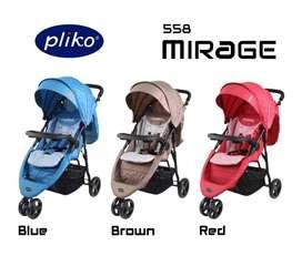 Stroller Pliko Mirage Stroler Roda 3 Kereta Dorong Anak Bayi Murah