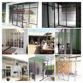 Pembuatan Kusen Alumunium Pintu Kaca Jendela Alumunium & Kaca
