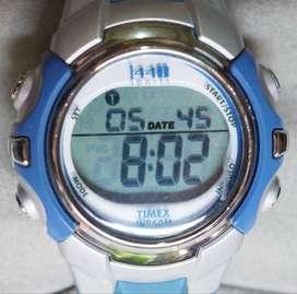 Timex 1440 sports watch silver blue