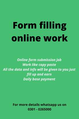 Make your career with authentic online job Form filling online work