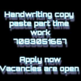 No qualification only typing work knowledge is required no experience