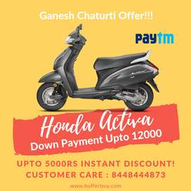 Get upto Rs 12000 Down Payment on Honda Activa 5G, Grab the deal now.