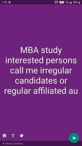 MBA atudy interested