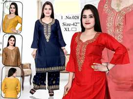 FANCY KURTI & PLAZO SUIT-WHOLESALE ONLY