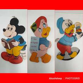 "Micky Mouse cut outs  (1)  34""x16"" (2)  34""x23"" Rs. 350 each ("