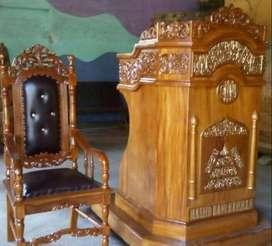 mimbar masjid dan kursi salina