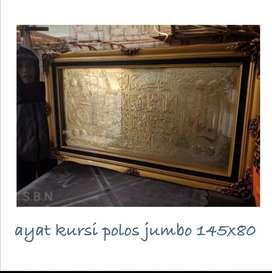 Hiasan dinding relief plat kuningan jumbo