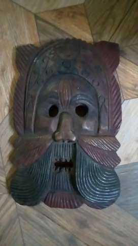 Classic vintage wooden mask for sale for classy office home Decor