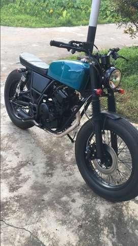 Dijual motor custom japstyle tahun 2011 Mesin scorpio cc 225