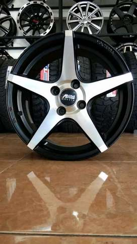 VELG AMW RACING RING15X6,5 PCD4X100ET35 FOR BRIO AYLA IGNIS VIOS CAYLA