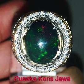 Cincin Batu Mulia Kalimaya Kembang Jarong Black opal Asli (Kode 369)