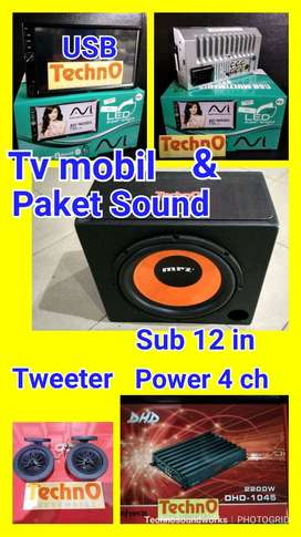4 ch Paket Sound DHD + Tv mobil Avi 1600 DS full set bs USB Bluetooth