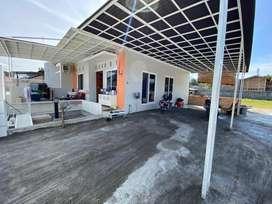 dijual rumah dan tanah kosong 1300m2 asri dan nyaman