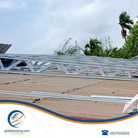 Jasa pemasangan rangka atap dan kanopi baja ringan