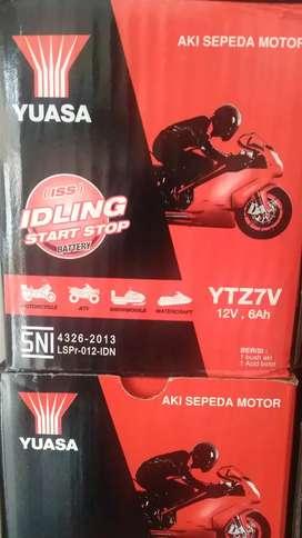 Aki motor NMAX AEROX LEXI Yuasa  YTZ7V 12v 6Ah
