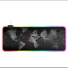 RGB lights world mouse pad 40*90