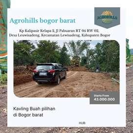 Kavling Tanah Kebun Murah  View Alam Pegunungan Bogor Barat AgroHills