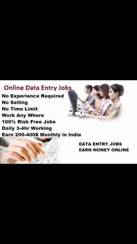 Data entry simple English typing vacancies available