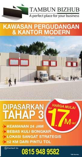 Jual Gudang & Kantor Modern Tambun Bizhub Bekasi
