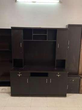 TV Unit cum wardrobe full of storage model