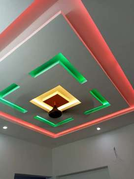 Gypsum board and aluminium fabrication works for home decoration