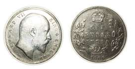King edward 1 rupee silver coin