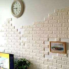 3D WALL PANEL BRICKS FOAM STICKERS
