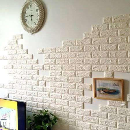 3D WALL PANEL BRICKS FOAM STICKERS 0