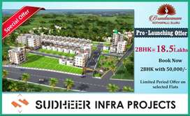 PRE LAUNCHING OFFER.! 2BHK for 18.5*Lacs only at ELURU vth Amenties*