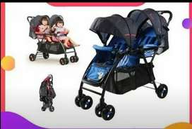 Brand new Double seater imported pram