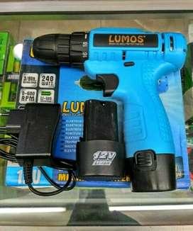 Mesin Bor Battery /Cordless Driver Drill LMS C01-003 LUMOS