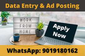 Earn money by doing part time Data Entry and Ad Posting work.