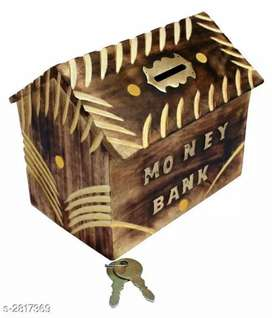 Wooden bank  With 2 Piece Of Keys