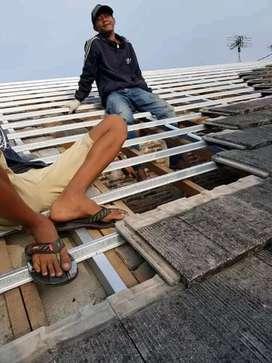 Baja ringan renovasi  atap Geneng beton