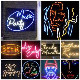 Neon Sign Led Neon Box Papan Nama Letter Timbul Akrilik Surabaya