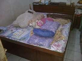 Tempat tidur jati double bed