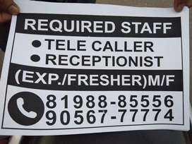 Required staff tele caller counslor