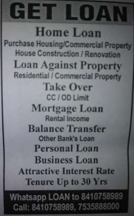 All types of loans from Banks & NBFC