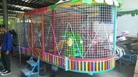 ERV 5 mainan usaha kereta panggung kincir komedi safari