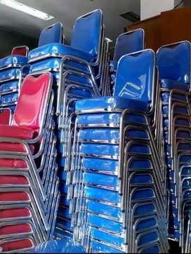 Dijual kursi susun stainless chrome kursi serbaguna