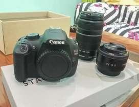 Canon 1200D Lensa Tele & fix