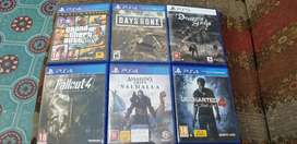 ps4 slim pro games gta5 assassins creed valhalla uncharted 4 days gone