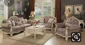 Duco paint Style carving sofa set with 5 years of warranty