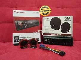 PAKET TWEETER HIFINE +PIONEER MVH-S215BT BLUETOOTH/USB single din