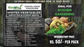 Winter Vegetable seeds & Flower Seeds - Kitchen Gardening