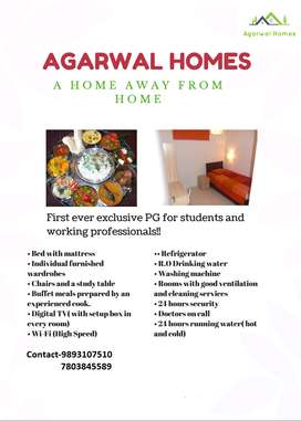 Complete Home like comfprt.Exclusive Male PG in Pachpedi Naka Raipur