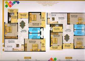 3 bhk new beautiful flat at bargain road bariatu available for sale