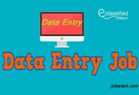 Data entry work simple English typing computer and laptop is must