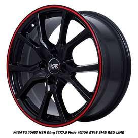 velg racing MISATO 10613 HSR R17X75 H4x100 ET45 SMB/RL