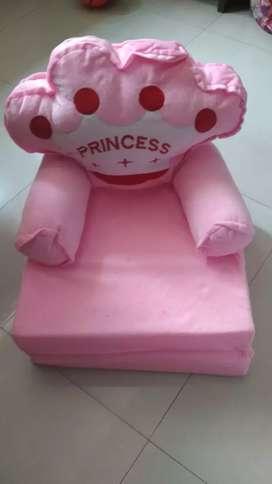 New Kids Sofa Cum Bed (Pink Princess)